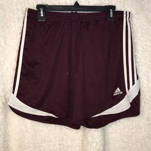 Maroon Adidas Shorts